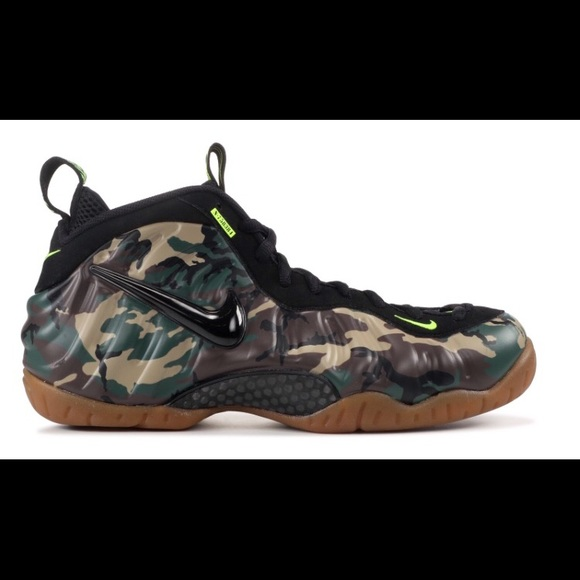 49aa597ab1 Nike Shoes | Air Foamposite Pro Prm Le Green Camo | Poshmark